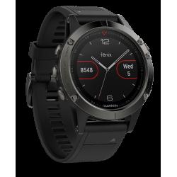 Спортивные часы FENIX 5 SAPPHIRE черные с черным ремешком
